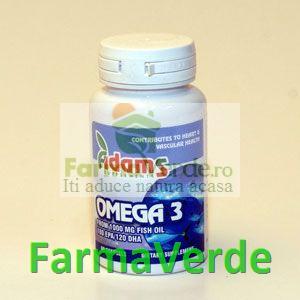 OMEGA 3+VITAMINA E 1000 mg 30 cps AdamsVision