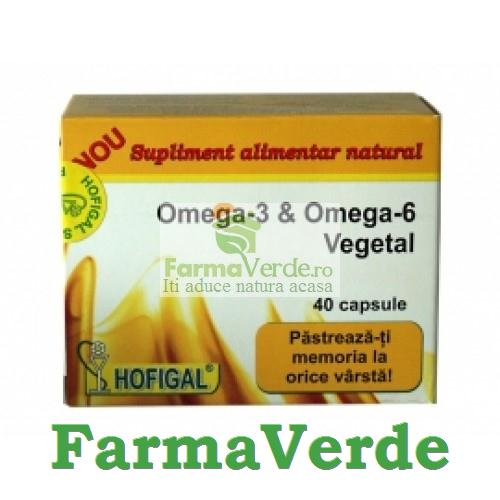 OMEGA-3 si OMEGA-6 Vegetal 40 Cps Hofigal