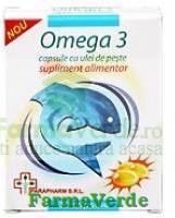 Omega 3- 30 capsule cu ulei de peste Quantum Pharm