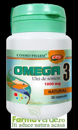 Omega 3 1000 mg ulei de somon 30 cps Cosmopharm