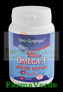 Omega 3 Ulei Somon + Vitamina E 1000mg 30 Cps Bio-Synergie Activ