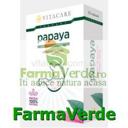 Papaya Digestie Usoara 30 capsule Vita Care