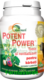Potent Power Tonic si revitalizant 100 tablete Ayurmed