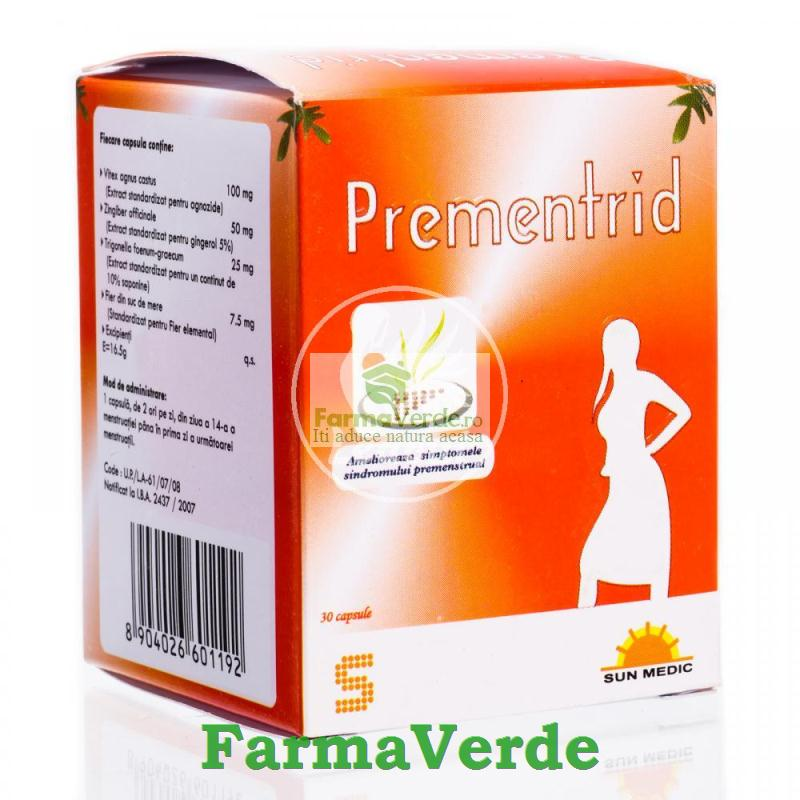 Prementrid 30 (Sindrom Premenstrual) Cps Sun Wave Pharma