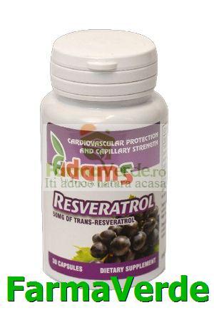 Resveratrol 50 mg 30 capsule Adams Vision