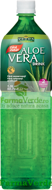 Suc Aloe Vera Fara Zahar 1.5 litri Vedda Kalpo