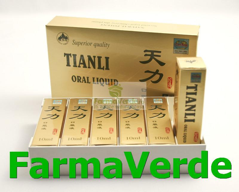 TianLi Original UltraPower Potenta Maxima! 6 Fiole Capac Auriu Set Sanye