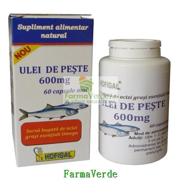 Ulei de Peste 600 mg 60 capsule moi Hofigal