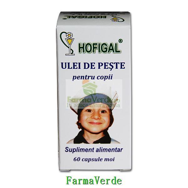 Ulei de Peste Pentru Copii 300 mg 60 capsule moi Hofigal