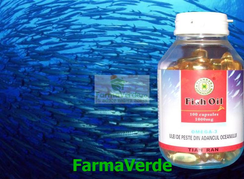 Ulei Peste Oceanic 1000 mg 100 capsule Sanye LL Plant