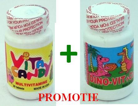 PROMOTIE DinoVit+Ca 30Cpr + VitaCandy 30Cpr