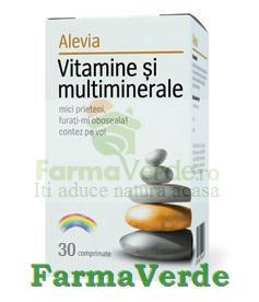 Vitamine si Multiminerale 30 cpr Alevia