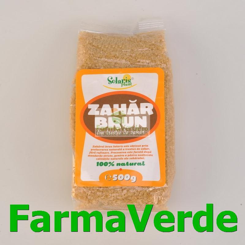 Zahar brun nerafinat trestie de zahar 500 gr Solaris Plant