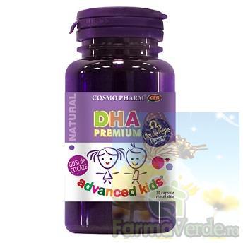 DHA EPAX ulei de peste fructe de padure 30 capsule masticabile Cosmopharm PREMIUM