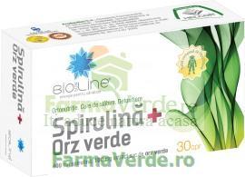 Spirulina+Orz Verde 30 comprimate ACHelcor
