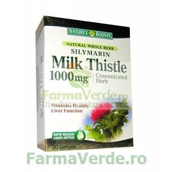 Silimarina Milk Thistle 1000 mg 30 cps Nature's Bounty Walmark